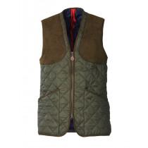 Laksen Ludlow Mens Quilted Shooting Vest Green