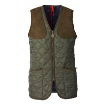 Laksen Cheltenham Ladies Quilted Shooting Vest Green