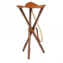 Laksen Teak & Leather Tripod 70cm Natural Oak