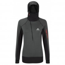 Mountain Equipment Eclipse Hooded Zip Tee Womens Shadow/Black