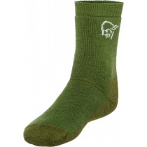 Norrøna Svalbard Mid Weight Merino Socks Forest Green