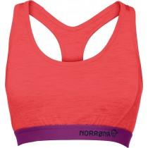 Norrøna Wool Crop Top (W) Crisp Ruby