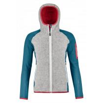 Ortovox Fleece Plus Classic Knit Hoody Women's Mid Aqua