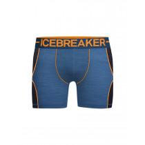 Icebreaker Mens Anatomica Zone Boxers Sea Blue Hthr/Koi