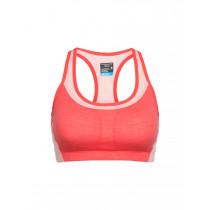 Icebreaker Women's Meld Zone Sport Bra Poppy Red/Sorbet