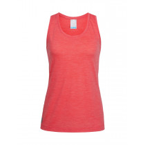 Icebreaker Women's Sphere Tank Poppy Red Hthr