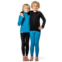 Woolpower Kids Zip Turtleneck Dolphine Blue