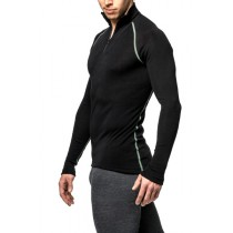 Woolpower Zip Turtleneck Black