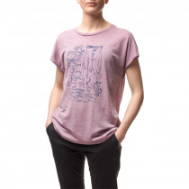 Houdini Women's Activist Message Tee Six Am Purple