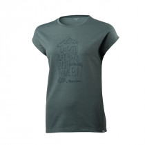 Houdini Women's Big Up Message Tee Storm Green