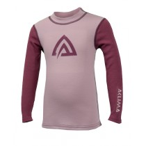 Aclima Warmwool Crew Neck Shirt, Junior Mauve Shadows/Damson