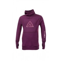 Aclima Warmwool Hood Sweater, Children Grape Wine/Damson