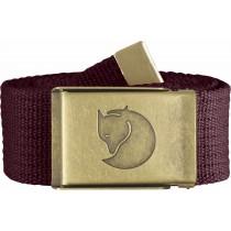 Fjällräven Canvas Brass Belt 4cm Dark Garnet