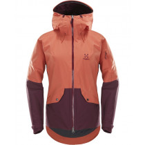 Haglöfs Khione Insulated Jacket Women's Dusty Rust/Aubergine