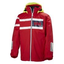 Helly Hansen Jr Salt Power Jacket Flag Red
