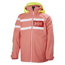 Helly Hansen Junior Salt Power Jacket Shell Pink