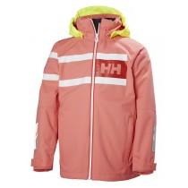 Helly Hansen Junior Salt Power Jacket Shell Pink
