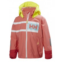 Helly Hansen Kids Salt Power Jacket Shell Pink