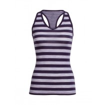 Icebreaker Women's Sprite Tank Silk Hthr/Burgundy Hthr/Stripe