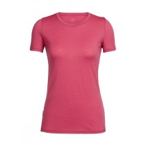 Icebreaker Women's Tech Lite SS Crewe Wild Rose