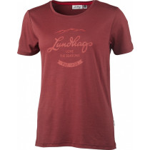 Lundhags Merino Light Established Ws Tee Dark Red
