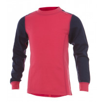 Matso Kids Shirt LS 100% Merino Hot Pink/Twilight Blue