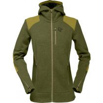 Norrøna Tamok Warm/Wool2 Zip Hood (W) Olive Drab