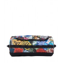 The North Face Base Camp Travel Canister- S TNF Red Sticker Bomb Print/TNF Black