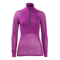 Brynje Lady Wool Thermo Light Zip Polo 3/4 Neck Violet