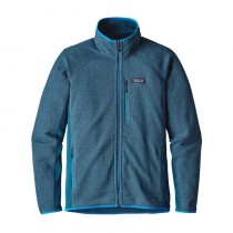 Patagonia M Performance Better Sweater Jkt Big Sur Blue