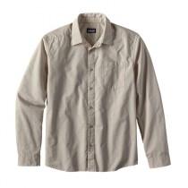 Patagonia Men's L/S Fezzman Shirt - Slim Fit Diamond Dobby: Pelican