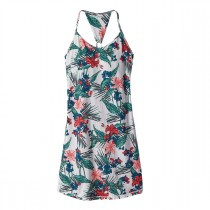 Patagonia Womens Edisto Dress Kelp Garden: Birch White