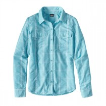 Patagonia Womens L/S Overcast Shirt Headwaters: Cuban Blue