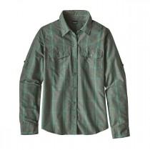 Patagonia Womens L/S Overcast Shirt Headwaters: Hemlock Green