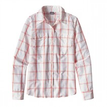 Patagonia Womens L/S Overcast Shirt Headwaters: White