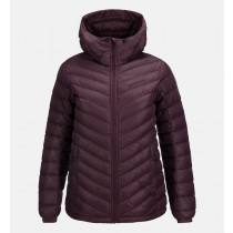Peak Performance Women's Frost Down Hooded Jacket Mahogany