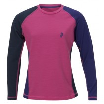 Peak Performance Junior's Multi Base-Layer Longsleeve Magenta Pink