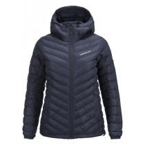 Peak Performance Women's Frost Down Hooded Jacket Salute Blue