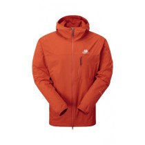 Mountain Equipment Echo Hooded Jacket Cardinal Orange