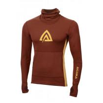 Aclima Warmwool Hood Sweater Man Madder Brown/Golden Apricot