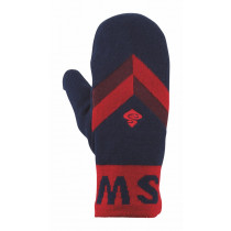 Sweet Protection Knitted Retro Mittens Midnight Blue/Rangoon Red