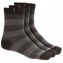 Gridarmor Merinoull Strumpor Stripes Herr 3-Pack Grå/Svart