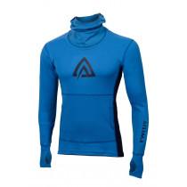 Aclima Warmwool Hood Sweater Man Brilliant Blue/Peacoat