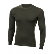 Aclima Warmwool Crew Neck Shirt Man Olive Night/Capulet Olive