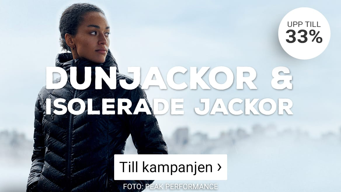 Kampanjpriser på dunjackor & isolerande jackor. Klicka här!