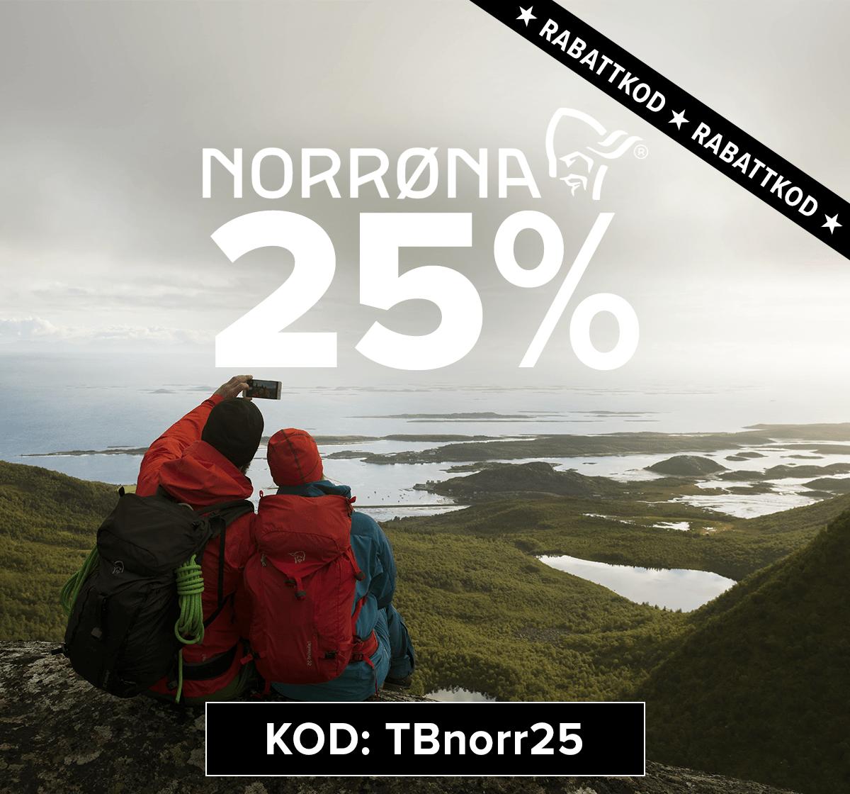 25% rabattkod på Norrøna. Kod: TBnorr25 - Klicka här >