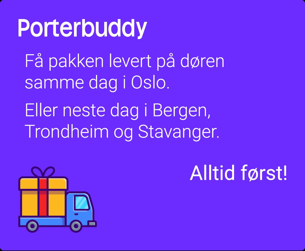 Porterbuddy – Få pakken levert på døren samme dag i Oslo eller neste dag i Bergen, Trondheim og Stavanger. Alltid først!