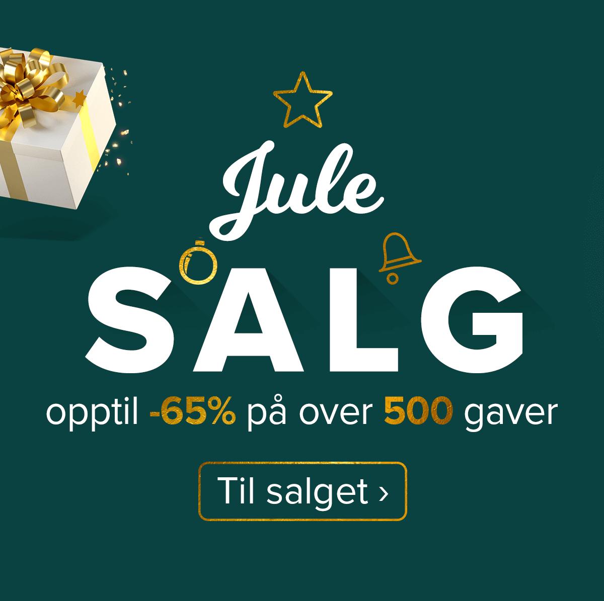Julesalg – opptil -65% på over 500 gaver!